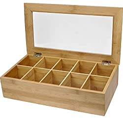 Bamboo Tea Organizer at Amazon