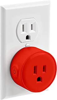 LITEdge Smart Plug, Compatible with Alexa, Wi-Fi Accessible Power Outlet, No Hub Needed, Control with App on Phone, Single Socket, More Cool Red Finish