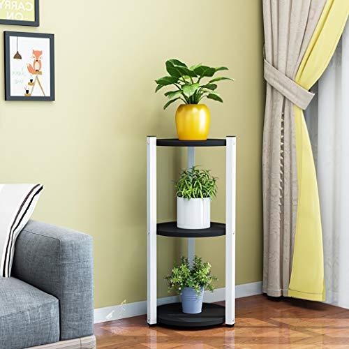 ZYFA Étagères d'angle Support de Pot de Fleurs assemblé intérieur Multicolore facultatif de 3 kg, présentoir de Fleurs en Fer forgé de 90 cm de Hauteur