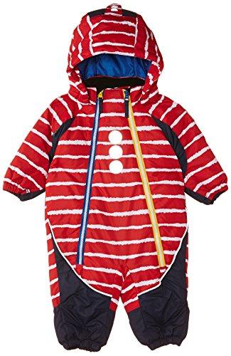 Kozi Kidz Kid's Combinaison de neige pour enfant Motif flocon de neige Rouge 68 cm