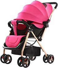 ZL Baby Strollers Can Sit and Fold Foldable Four Seasons Available Four-Wheeled Children's Trolleys,G