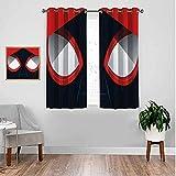 VICWOWONE Cortinas estampadas SPI-Der MA-N cortinas de película para niñas dormitorio ventana paneles de sala de estar 214 x 214 cm