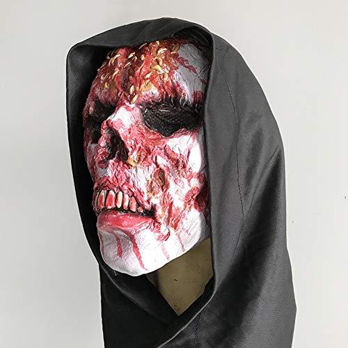 OMJNH Mask, Halloween masker, zombie capuchon, eco-vriendelijke Halloween kostuum masker, geschikt voor volwassenen, feesten, decoraties, enz.