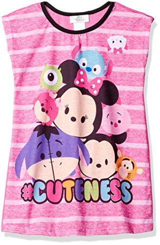 Disney Girls' Little Girls' Tsum Tsum Nightgown, Pink, 6