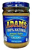 Adams 100% Natural CREAMY Peanut Butter 16oz (3 Pack)