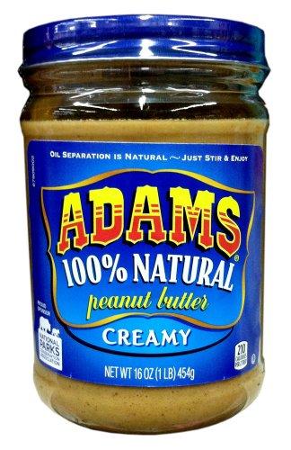 Adams Natural Creamy Peanut Butter - 16 oz (2 Pack)