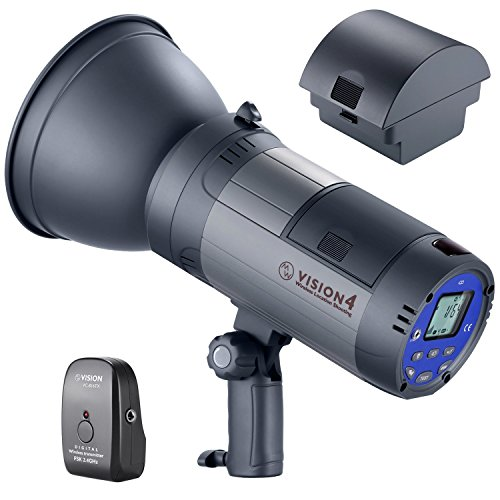 Neewer Vision 4 300W Li-ion Battery Powered (700 Full Power Flashes) Outdoor Studio Flash Strobe with 2.4G System(Trigger Included), German Engineered for Location Shooting, 2 Packs Li-ion Battery