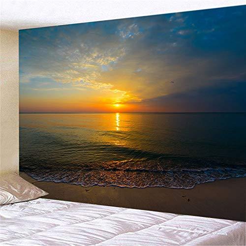 WERT Paisaje de Playa impresión 3D Dormitorio montado en la Pared Sala de Estar Mural decoración del hogar Tapiz Tela de Fondo A2 150x200cm
