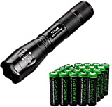 Best 18650 Batteries - Jisell LED 800 Lumens 18650 Flashlight with 20 Review