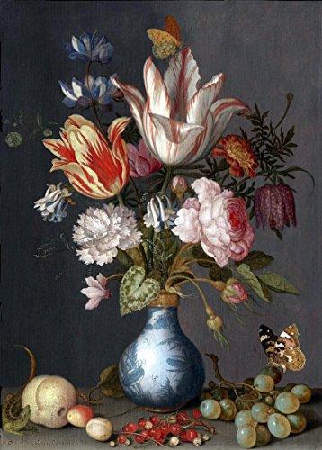 Das Museum Outlet–Blumenstrauß der Blumen in einem chinesischen Vase–Leinwanddruck Online (61x 45,7cm)