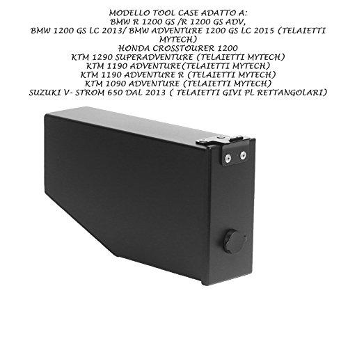 MyTech - Caja de herramientas de 2,8 l barnizada negra para Suzuki V-Strom 650 desde 2013 para chasis Givi PL rectangular