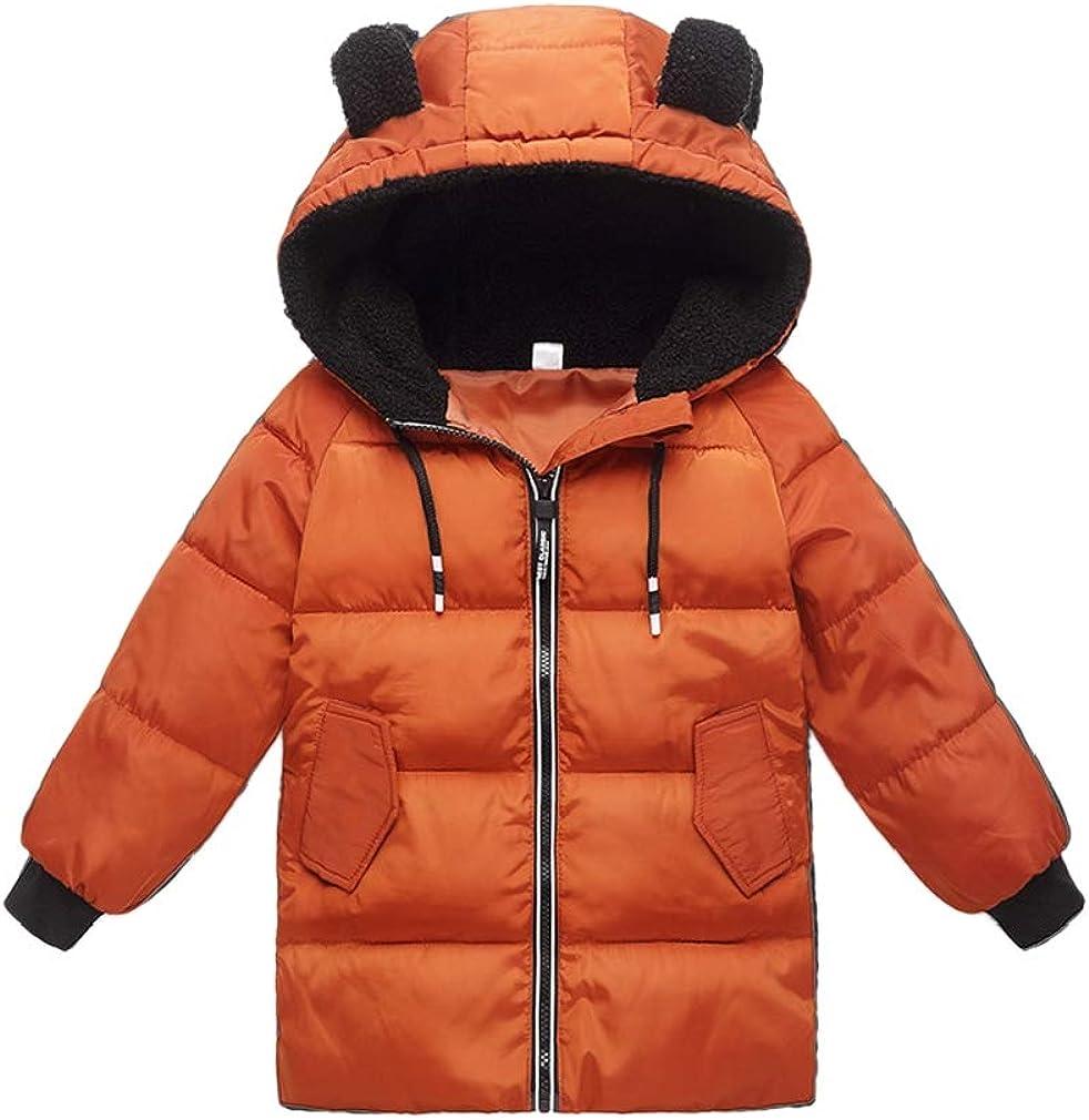 Joe Wenko Baby Boys Girls Down Alternative Long Hoodie Coat, 18M-6Y