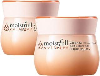 エチュードハウス水分いっぱいコラーゲンクリーム 75mlx2本セット韓国コスメ、Etude House Moistfull Collagen Cream 75ml x 2ea Set Korean Cosmetics [並行輸入品]