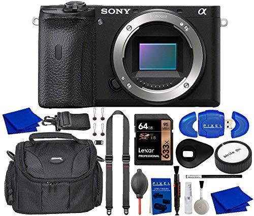 Sony Alpha A6600 Mirrorless Digital Camera Bundle with 64GB Memory Card, Peak Design Strap, Waterproof Gadget Bag, Professional Cleaning Kit, Eyeshade + More   E-Mount APS-C Camera