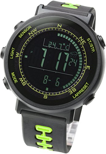 LAD WEATHER] Sensor de Swiss Running Cronógrafo Relojes Deportes al Aire Libre Digital brújula altímetro pronóstico Escalada Senderismo barómetro termómetro Surf