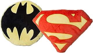 DC Comics Justice League -Batman/Superman Symbol Throw Pillow