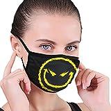 Evil Smiley Face1 Kinder verstellbare Mundabnutzung Gedruckte waschbare Gesichtsabdeckung Erwachsenenschutz