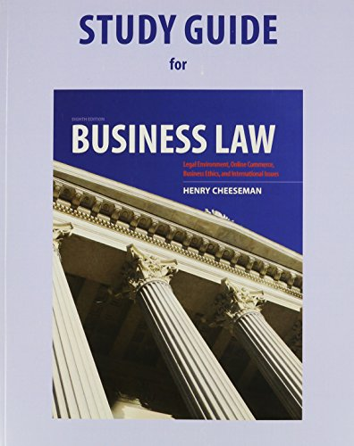 Study Guide for Business Law