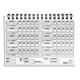 Workout Log Gym Wire-Bound A5 Sized Training and Gym Diary - Fitness Goals Track 500 Workouts Record Progress Strong Durable 2020 New Year Pick Your Cover (Grey Camo) Img 1 Zoom