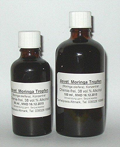 Asvet 100ml Moringa Extrakt, Moringa Oleifera Tropfen, Konzentrat