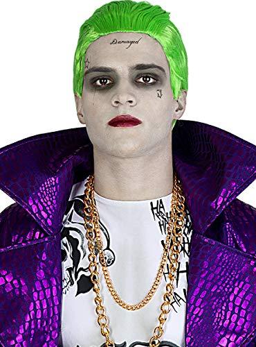 Funidelia | Joker Perücke - Suicide Squad OFFIZIELLE für Herren ▶ Superhelden, DC Comics, Bösewicht - Bunt, Zubehör für Kostüm