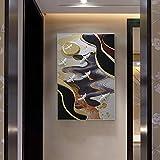 Moderne Chinois Relief Tridimensionnel Peinture Mur Couloir Main Environnement Environnement Peinture Décorative sans Cadre De Mode Atmosphère,A,60 * 90cm