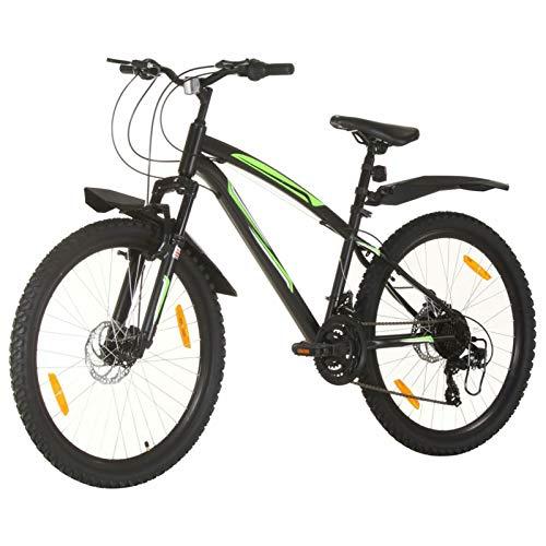 Tidyard Bicicleta de Montaña 21 Velocidades 26 Pulgadas Rueda 42 cm Bicicleta Montaña para Adulto Negro