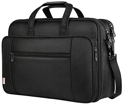 18.4 Inch Laptop Bag, Extra Large Briefcase for Men Women, Travel Business Laptop Shoulder Bags, Waterproof Expandable Computer Bags Carrying Case Fits 18.4 Inch Laptop for Business Travel