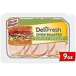 Oscar Mayer Deli Fresh Oven Roasted Turkey Breast Sliced Lunch Meat (9 oz Package)
