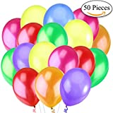 Jonami 50 Mehrfarbige Luftballons Bunt Helium - Ballon Bunte Latex