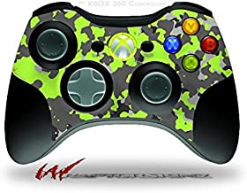WraptorCamo Old School Camouflage Camo Lime Green - Decal Style Skin fits Microsoft XBOX 360 Wireless Controller (CONTROLL...