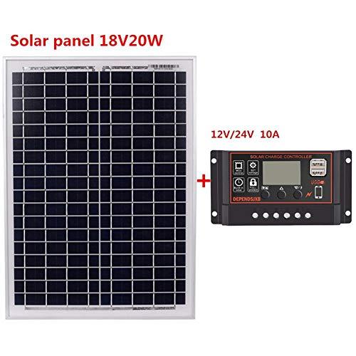 MODGS Steadyuf 20W 18V A Clase Panel Solar Silicio Policristalino con 12V / 24V 10A20A Panel Solar De Silicio Policristalino Great