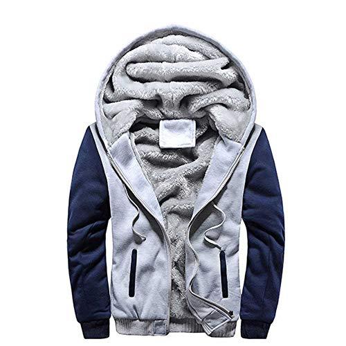 Chaqueta de Hombre Nueva Chaqueta de Invierno Gruesa y cálida con Cremallera de Lana Chaqueta de Hombre Ropa Deportiva Chaqueta de Invierno Streetwear para Hombre