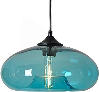 HomeLava Lámpara Colgante de Cristal Base E27 Lámpara de Techo Colgante para Salón/Dormitorio/Oficina/Tienda, Transparente: Amazon.es: Hogar