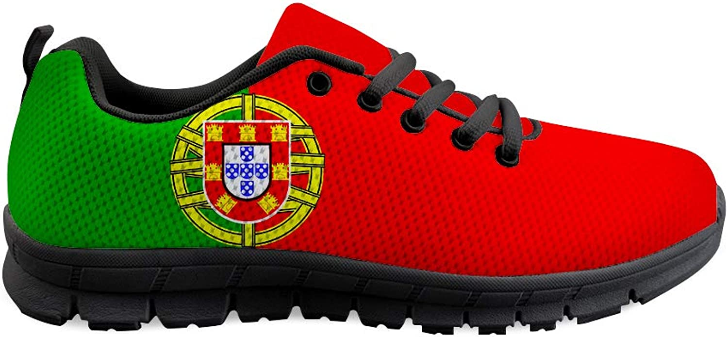 Owaheson Lace-up Sneaker Training shoes Mens Womens Portugal Flag