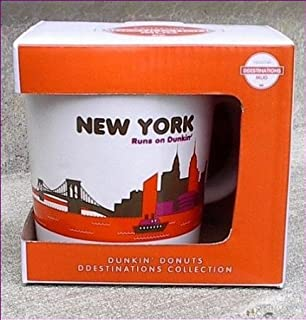 Dunkin Donuts Limited Edition Destination Mugs - New York - Boston - Florida - Chicago (New York)