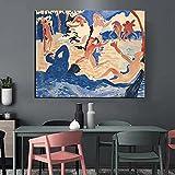 ZHJJD Andre Derain Lienzo Arte de Pared fauvismo póster con impresión en HD Pintura de Mujer Cuadros Modernas del Cuerpo Humano para la Decoracion de la Salon de Estar 60x90cm sin Marco