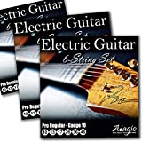 3 PACKS of Adagio Professional Electric Guitar Strings 10-46 + FREE Chord & Scale Chart