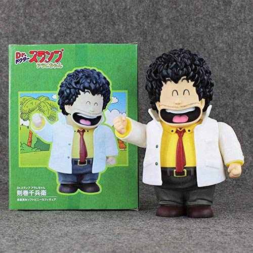 cheaaff 22cm Anime Dr Slump Arale Senbei Norimak Actionfigur gemalte Figur im Maßstab 1/7 Senbei Norimak Puppe PVC Brinquedos