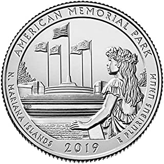 2019 P, D American Memorial Park, NMI National Park Quarter Singles - 2 Coin Set Uncirculated