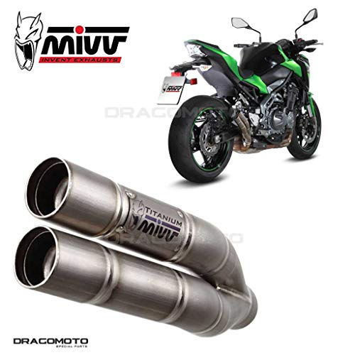 Mivv K.045.LDG KAWASAKI Z900 2017 > ESCAPE SLIP-ON DOUBLE GUN FULL TITANIUM