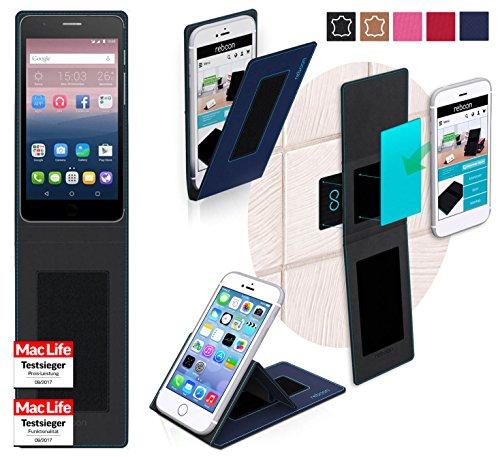 reboon Hülle für Alcatel OneTouch Pop Up Tasche Cover Case Bumper   Blau   Testsieger