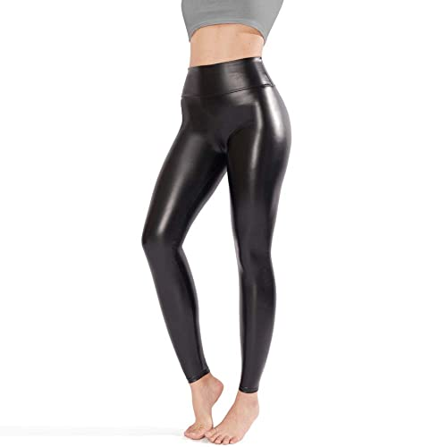 b906ff671010e Tagoo Faux Leather Leggings for Women, Black Leather Pants Women High  Waisted
