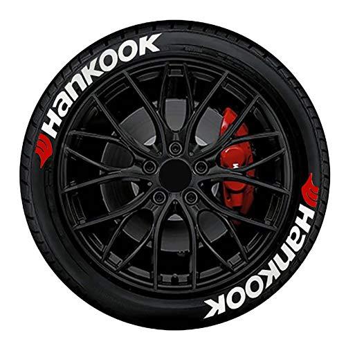 josietomy 8 juegos de pegatinas para neumáticos de coche, resistentes al agua, pegatinas universales para motocicletas