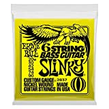 Ernie Ball 6-string Slinky Nickel Wound Short Scale Bass Set with small ball ends, .020w - .090