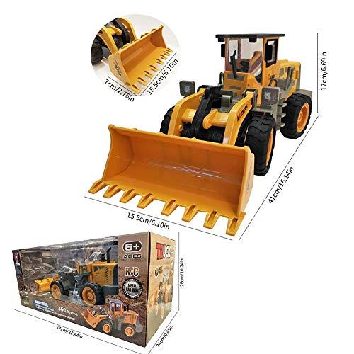 RC Spielzeug kaufen Spielzeug Bild 1: 332PageAnn Rc Bagger Spielzeugauto Radlader Baufahrzeuge, 6 Kanal Simulationsfahrzeug Geburtstagsgeschenk Für Kinder*