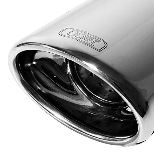 Échappement double compatible avec Audi A4 8E/B7 Sedan/Avant 1.6i 75kW/1.8 T 120kW/2.0i 96kW/1.9TDI 85kW/2.0TDI 103kW 2005-2008 120x80mm