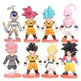 REYOKG Dragon Ball Cake Topper Pastel Decoración Suministros 8Pcs Goku Figures Toy Dragon Ball Jugue...