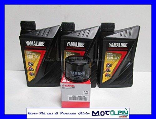Yamalube Kit révision 3 litres d'huile + filtre d'origine pour Yamaha Fazer 600 98-03