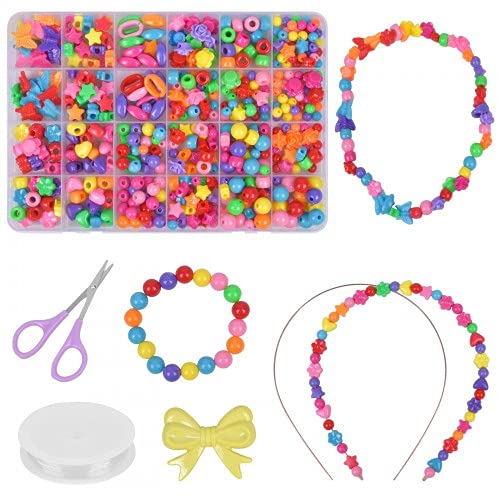 Pinsheng Kit per Gioielli Fai da te per Bambini, Kit di artigianato Collane e bracciali Giocattoli creativi fai da te Regali di Natale e compleanno per ragazze e ragazzi